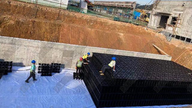 雨水收集模块系统已广泛应用于小区建筑中
