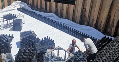 雨水收集系统铺设防渗膜